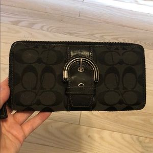 Black coach wallet